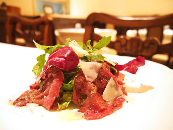 前菜…イタリア産馬肉のカルパッチョ
