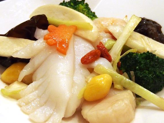 ブロッコリーと3種海鮮炒め