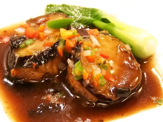 海老すり身と茄子の豆鼓煮